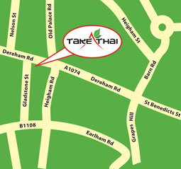 Map to Take Thai - Norwich Thai takeaway